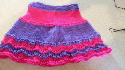 Pink & Purple Scallop-Edge Skirt