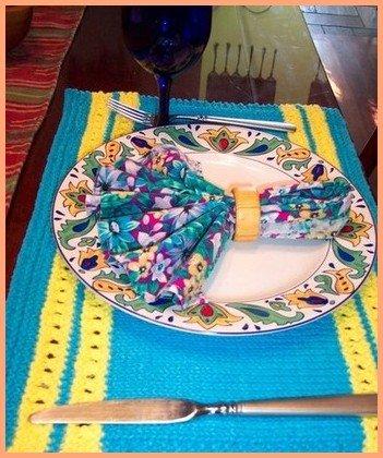 placemat knitting pattern