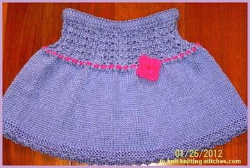 knitted short skirt for toddler