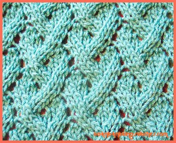 Knitting Cables Loose Stitches : Loose Lattice Lace Pattern - Another Pretty Lace Knitting Stitch Pattern