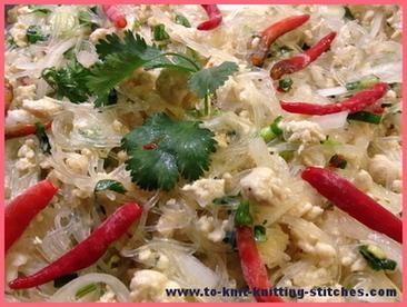 thai noodle salad - yum woon sen