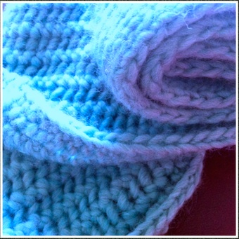 edge sts using slip st and knit st on every row
