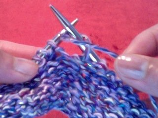 wrap yarn once around needle during purling