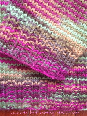 closeup ribbing of raglan sweater