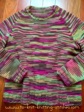raglan sweater knitting pattern