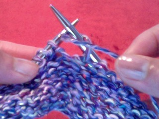 yarn over purl wrap yarn